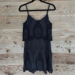 Dolce Vita Jeralyn Black Lace Trim Dress Medium